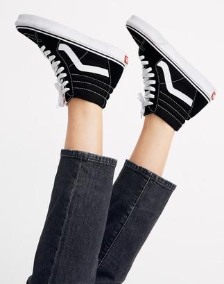 Madewell Vans Unisex SK8-Hi High-Top Sneakers in Black Suede and Canvas