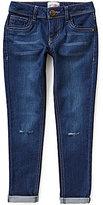 GB Girls Big Girls 7-16 Distressed Cropped Cuffed Boyfriend Jeans