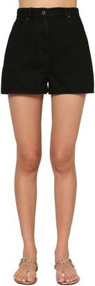 Valentino Vltn Star Print Denim Shorts