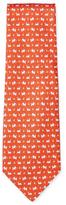 Salvatore Ferragamo Dog & Butterfly Silk Tie