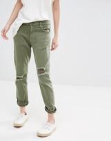 Current/Elliott Current Elliott Slim Boyfriend Jeans With Rips