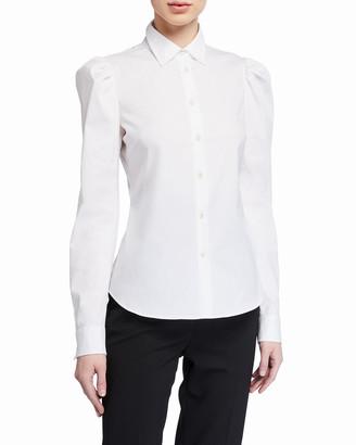 RED Valentino Button-Down Stretch Cotton Shirt
