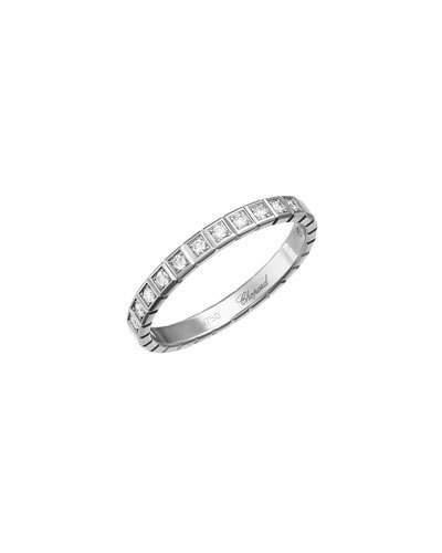 Chopard Ice Cube Mini Diamond Ring in 18K White Gold, Size 54