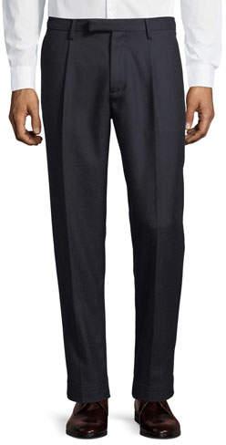Moncler Pleat-Front Wool Dress Pants