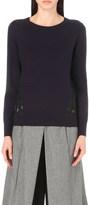 Diane von Furstenberg Anaya merino-wool and lace jumper