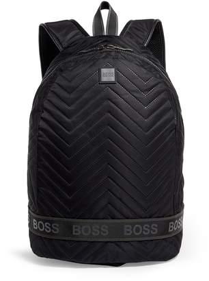 BOSS Chevron Pattern Backpack