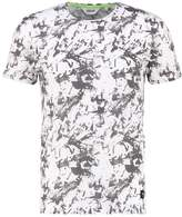 Solid Gibbie Print Tshirt White