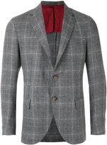 Eleventy checked blazer - men - Silk/Linen/Flax/Cupro/Wool - 48