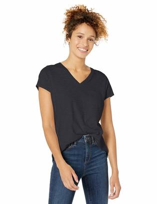 Goodthreads Vintage Cotton Pocket V-Neck T-Shirt Charcoal NEP Heather XS