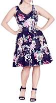 City Chic Rose Jewel Fit & Flare Dress