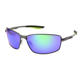 Reebok Men's Rbs 5 Gun Grn Mir No Polarization Rectangular Prescription Eyewear Frame