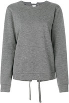 Designers Remix lace-up back sweatshirt