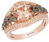 LeVian 14K Strawberry Gold Peach Morganite and Diamond Ring