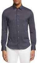 Armani Collezioni Geometric Print Regular Fit Button-Down Shirt