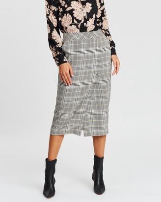 Dorothy Perkins Sienna Check Pencil Skirt
