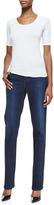 Christopher Blue Madison Straight-Leg Luxe Denim Jeans, Draper