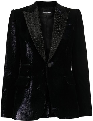 DSQUARED2 High-Shine Tuxedo Jacket