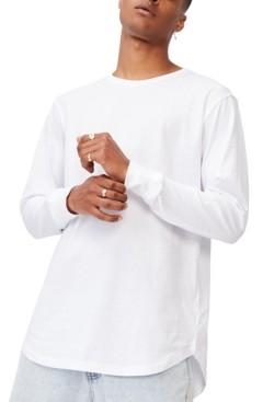 Cotton On Men's Longline Scoop Long Sleeve T-shirt