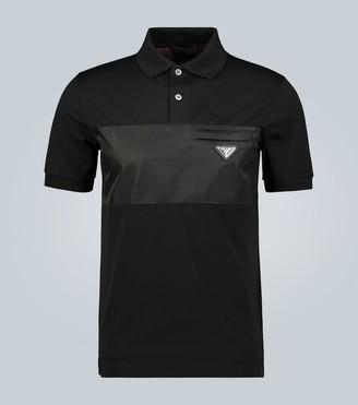 Prada Cotton stretch short-sleeved polo shirt