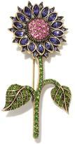 "Heidi Daus Happy"" Crystal Cosmo Flower Pin"