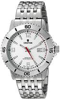 Croton Men's CA301288SSSL Analog Display Quartz Silver Watch