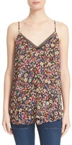 The Kooples Women's Lace Trim Floral Print Tank