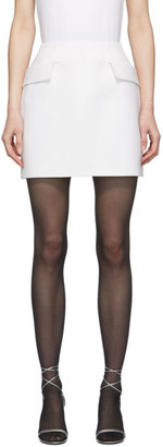 Thierry Mugler White Pocket Miniskirt