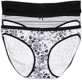 Motherhood Printed Fabric Maternity Bikini Panties (3 Pack)