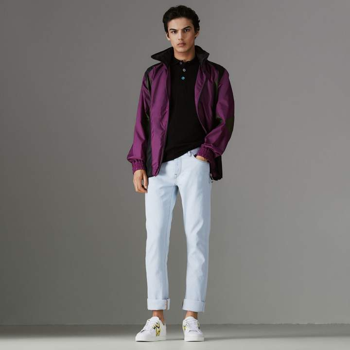 Burberry Straight Fit Bleached Japanese Denim Jeans