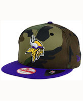 New Era Minnesota Vikings Camo Two Tone 9FIFTY Snapback Cap