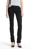 Paige 'Skyline' Straight Leg Stretch Jeans (Black Ink)