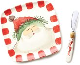 Vietri Old St. Nick Square Plate with Spreader