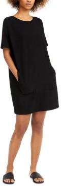 Eileen Fisher Crewneck Popover Dress