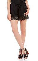 Moon River Scallop Lace Shorts