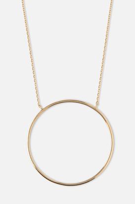 Orelia Gold Circle Necklace