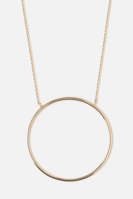 Orelia Gold Circle Necklace