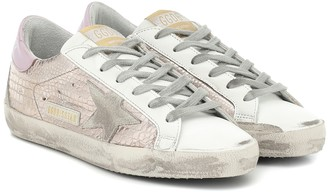 Golden Goose Superstar croc-effect sneakers
