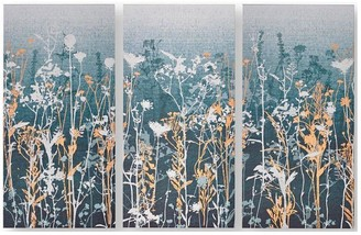Graham & Brown Wildflower Meadow Canvas with Metallic Highlights