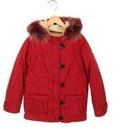 Scotch & Soda Girls' Fur & Shearling-Trimmed Coat w/ Tags