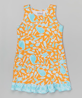 Flap Happy Tangerine Tide Sophie Swing Dress - Infant Toddler & Girls