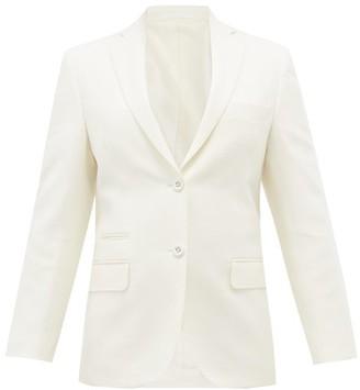 Officine Generale Charlene Single-breasted Wool-flannel Suit Jacket - Ivory