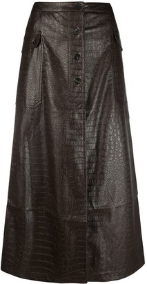 Soulland Cilla buttoned up skirt