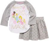 Disney 2-pc. Long-Sleeve Princess Top and Skirt Set - Girls 2-9/10