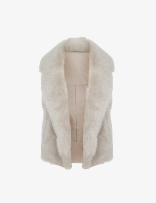 Reiss Tabitha sleeveless shearling gilet