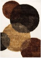 Bed Bath & Beyond MAT Circle of Life Hand-Tufted Rug in White/Brown