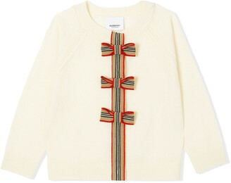 BURBERRY KIDS Bow Detailed Cardigan