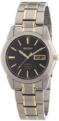 Seiko Men's Analogue Quartz Watch with Titanium Two-Tone Bracelet - SGG735