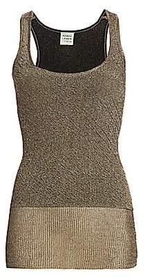 Herve Leger Women's Metallic Two-Tone Knit Tank Top