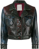 Marco De Vincenzo cropped jacket - women - Calf Leather/Polyester - 42