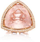 Karma el Khalil Horizon Rose Quartz and Opal Ring